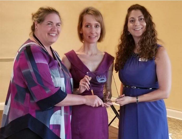Janelle Weber given pro bono award.